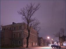 Улица Октябрьская. Ночной пейзаж. Достопримечательности Нижнего Новгорода. Фото