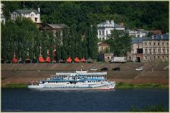 Теплоходы у пристани. Нижневолжская набережная. Фото Нижнего Новгорода