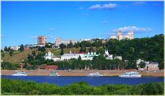 Благовещенский мужской монастырь. Река Ока. фотографии Нижнего Новгорода