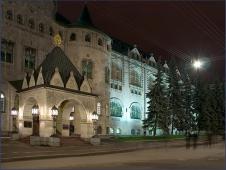 Здание госбанка. Фото ночного города. Достопримечательности Нижнего Новгорода. Фото