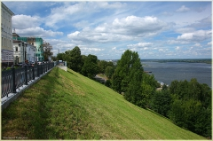 Волжский откос, Верхневолжская набережная. Река Волга. Фото Нижнего Новгорода