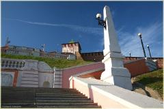 Подъем по Чкаловской лестнице. Фото Нижнего Новгорода. Городской пейзаж