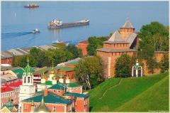 Виды Нижнего Новгорода. Вид на Нижегородский Кремль и Волгу