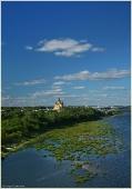 Фото с Нижегородского метромоста. Собор Александра Невского. Фото Нижнего Новгорода