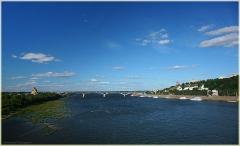 Фото с Нижегородского метромоста. Мост через Оку. Фото Нижнего Новгорода