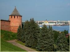 Кремль, Стрелка Оки и Волги. Фото Нижнего Новгорода. Городской пейзаж