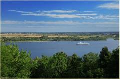 Ах, белый теплоход. Река Волга. Утро на реке. Фото Нижнего Новгорода
