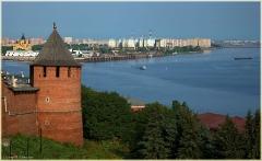 Кремль, Стрелка Оки и Волги. Борский мост. Фото Нижнего Новгорода. Городской пейзаж
