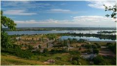 Утро в городе. Гребной канал. Канатная дорога. Ресторан Робинзон. Фото Нижнего Новгорода