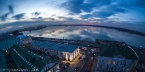 Нижний Новгород. Вечерний вид на Стрелку. Фото