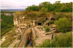 Чуфут-кале. Вход в крепость. Пещерный город. Крым