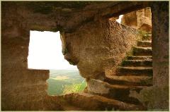 Чуфут-кале. Вид из окна каменного жилища караимов