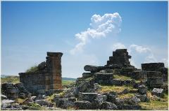 Руины древнего города. Хиераполис. Турция