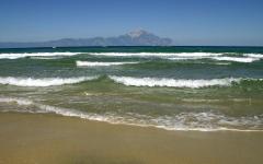 Гора Святой Афон. Эгейское море. Обои на рабочий стол. Скачать бесплатно. Греция. 1440х1024.