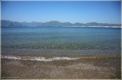 Морской пейзаж. Утренний пляж. Фото Рыбьим глазом