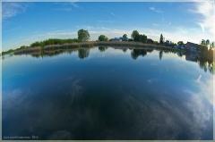 Облака в воде. Закатные фото с Фишаем
