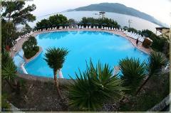 Бассейн в отеле Турции. Искажения. Фотографии FishEye