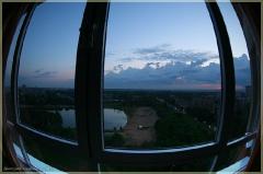 Фото вид из окна. Вечер. Фотографии FishEye