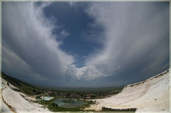 Облака над Памуккале. Фотографии FishEye