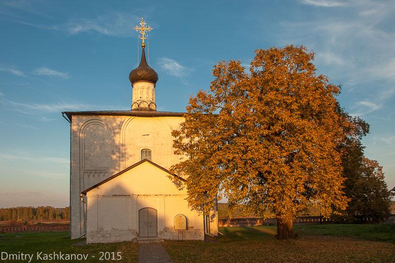 Церковь Бориса и Глеба. Кидекша. Вечернее фото