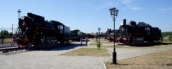 фото из интернет. музей паровозов - съемка в солнечный день