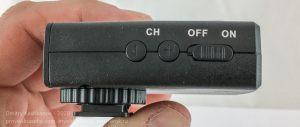 Приемник. Вид сбоку. Универсальный беспроводной пульт ДУ JJC WT-868 для фотоаппаратов