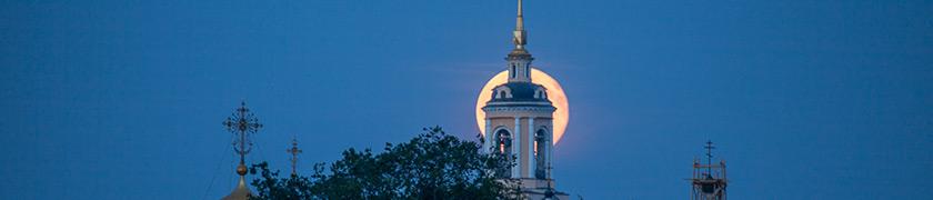 Как фотографировать восход Луны