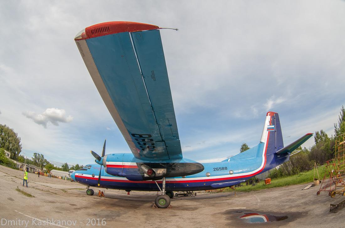 споттинг 2016 в нижегородском аэропорту. самолет Ан-26. Вид сбоку