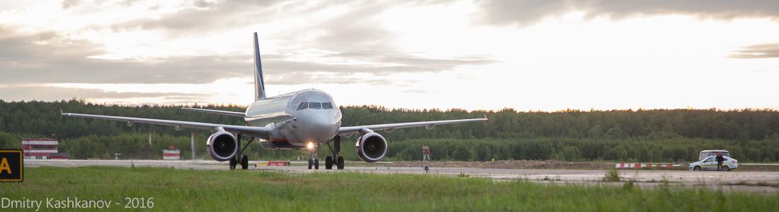 споттинг 2016 в нижегородском аэропорту. Посадка самолета Аэрофлота. Фото