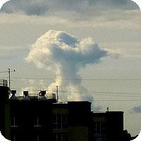 фотография облака, похожего на атомный гриб
