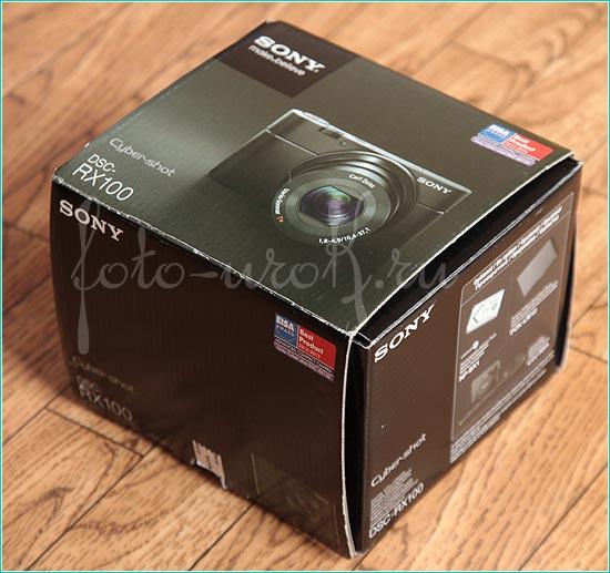 Цифровой компакт Sony DSC RX100. Коробка с фотоаппаратом