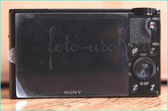 Фотоаппарат Sony DSC RX100. Вид сзади